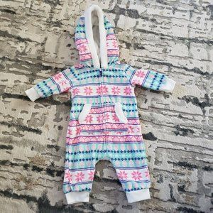 Fleece Footless Baby Outfit 3M